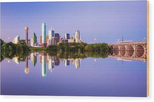 Dallas Texas Houston Street Bridge Wood Print