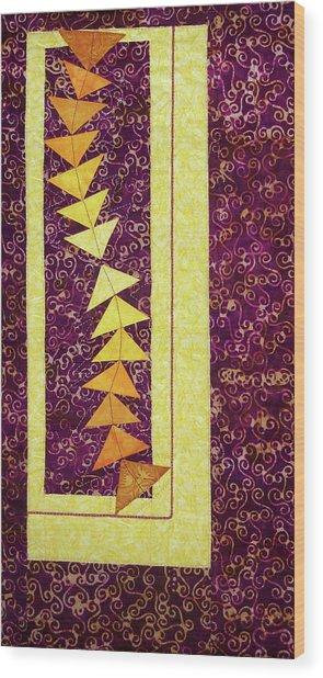Dancing Geese Wood Print