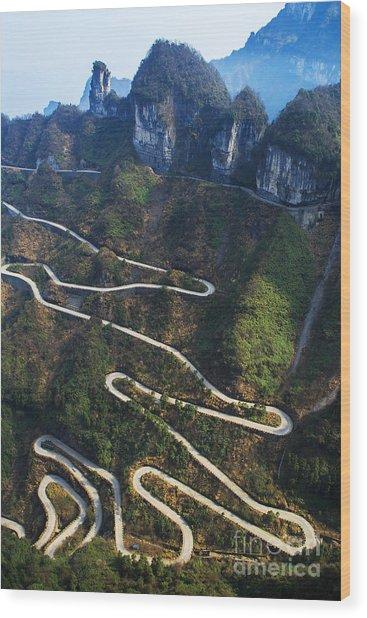 Dangerous Path In China Wood Print