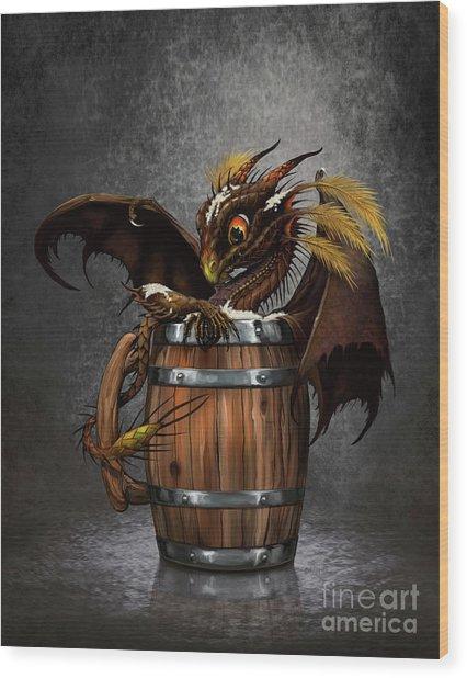 Dark Beer Dragon Wood Print