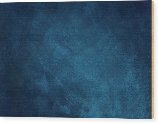 Dark Blue Grunge Background Wood Print by Caracterdesign