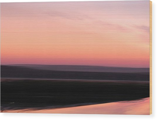 Wood Print featuring the digital art Darkness Settles Over The Desert by Roy Erickson