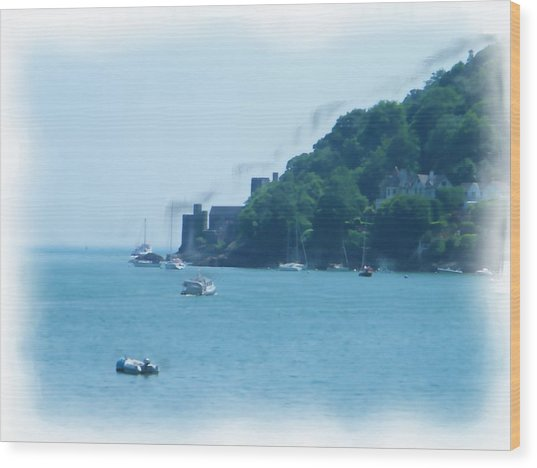 Dartmouth Castle Painting Wood Print