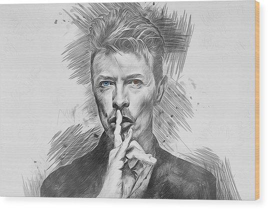 David Bowie. Wood Print