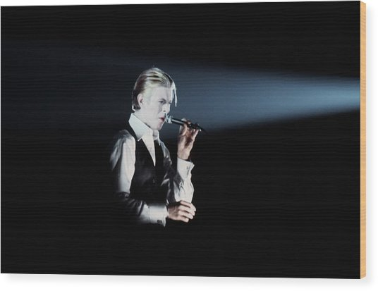 David Bowie In Detroit Wood Print by Donaldson Collection