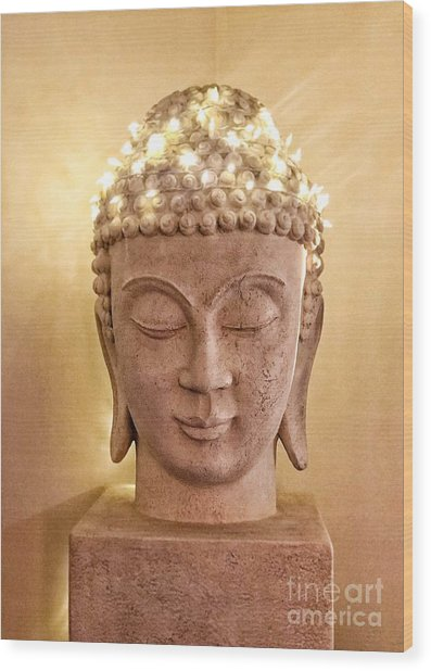 Dawn Buddha  Wood Print