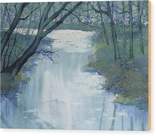 Dazzle On The Derwent Wood Print