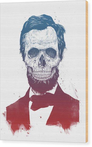Dead Lincoln Wood Print