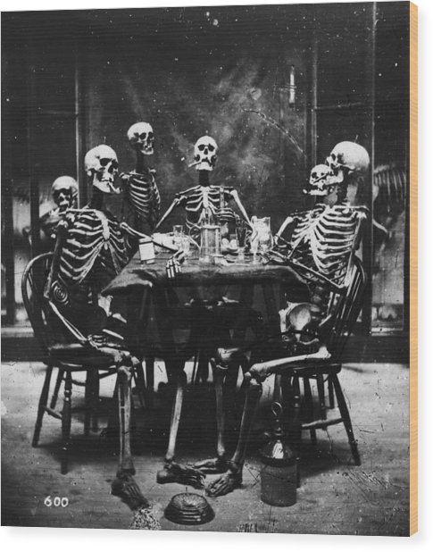 Deathly Diners Wood Print by London Stereoscopic Company