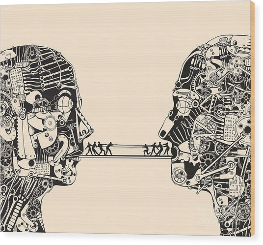 Debate. The Science Of Communication Wood Print