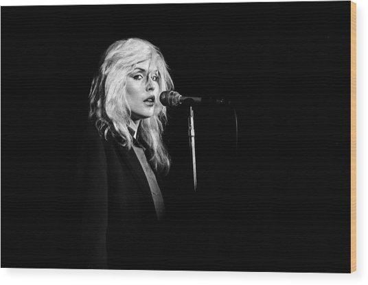 Debbie Harry Performs Live Wood Print by Richard Mccaffrey