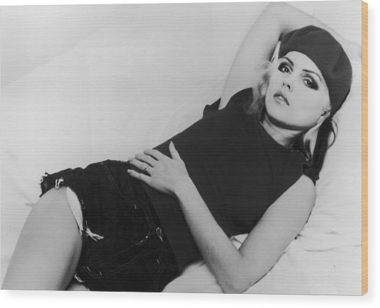 Deborah Harry Wood Print by Hulton Archive