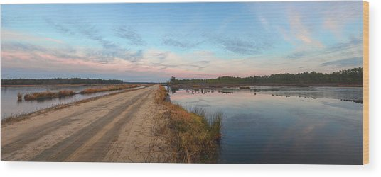 December Sunset At Whitesbog Nj Wood Print