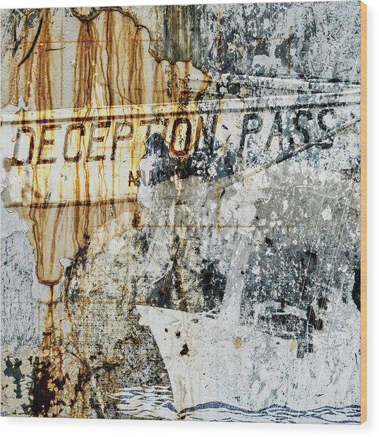 Deception Pass Montage Wood Print
