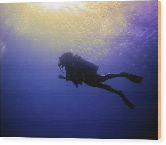 Deep Ascent Wood Print