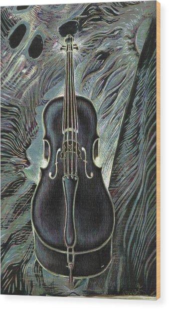 Deep Cello Wood Print