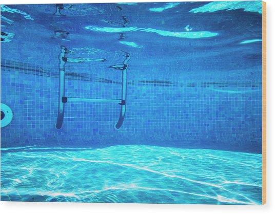 Deep Of Swimming Pool Wood Print by Cinoby