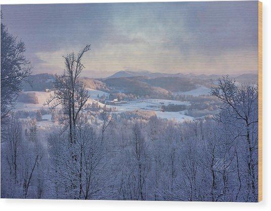 Deer Valley Winter View Wood Print