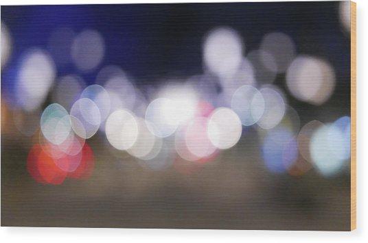 Defocused Lights At Night Wood Print by Jasmin Awad / Eyeem