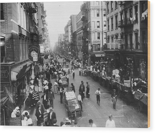 Delancey Street Ny Wood Print by Hulton Archive