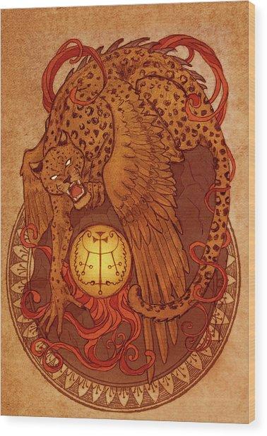 Demons Of Goetia Haures / Flauros Wood Print by Cambion Art