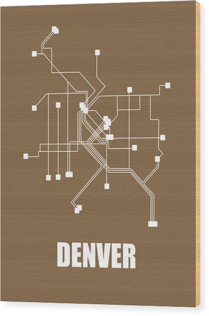 Denver Subway Map 2 Wood Print