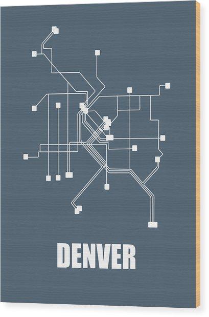 Denver Subway Map Wood Print