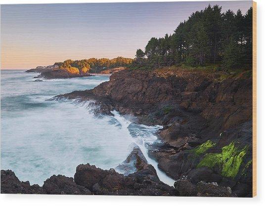 Depoe Bay Sunrise Wood Print