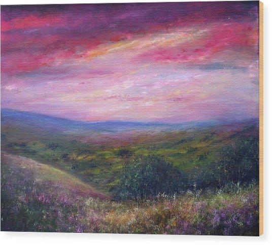 Derbyshire Skies Wood Print by Ann Marie Bone