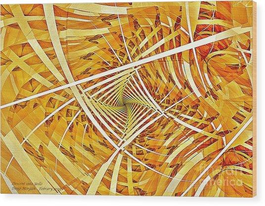Descent Into Yello Wood Print