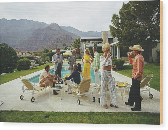 Desert House Party Wood Print