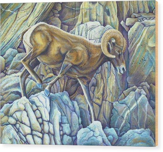 Desert Ram Wood Print