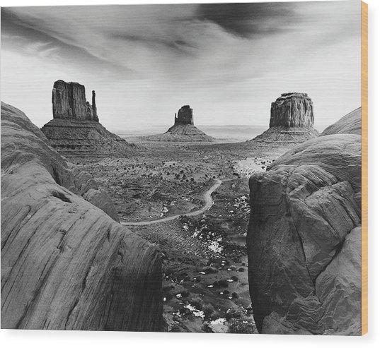 Desert Scene Wood Print