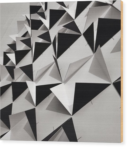 Detail Shot Of Wall With Black Folded Wood Print by David Crunelle / Eyeem