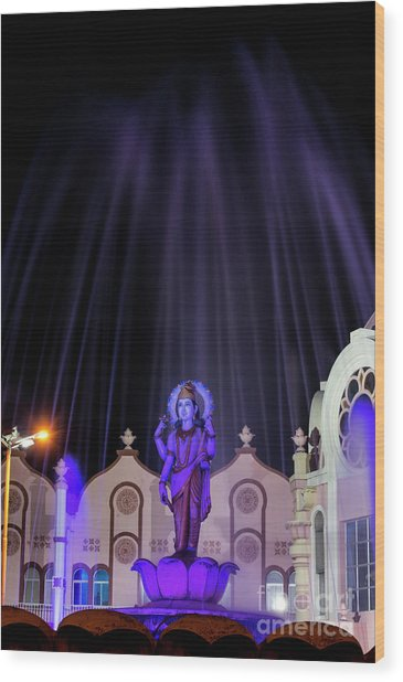 Dhanvantari At Night Wood Print by Tim Gainey