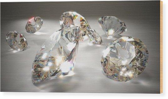 Diamonds Wood Print by Mevans