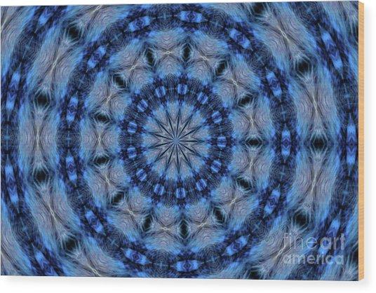 Blue Jay Mandala Wood Print