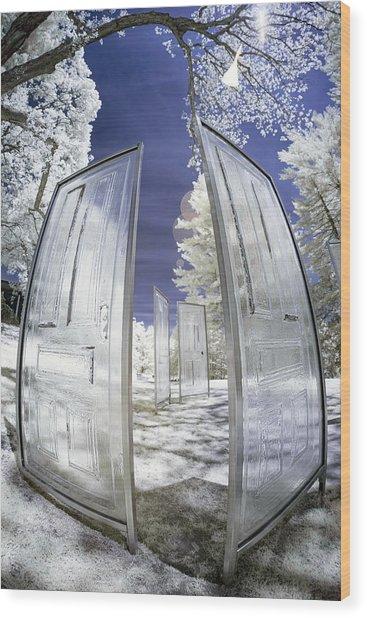 Dimensional Doors Wood Print