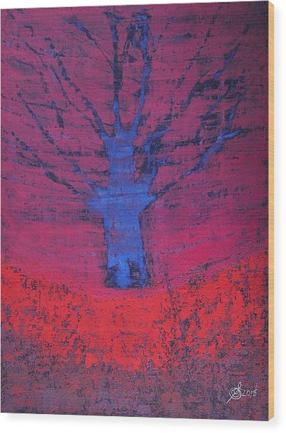 Disappearing Tree Original Painting Wood Print