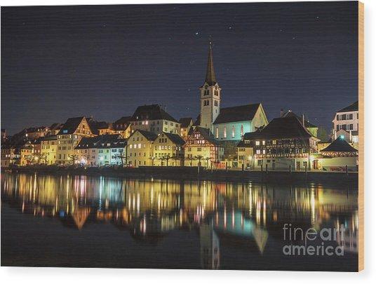 Dissenhofen On The Rhine River Wood Print