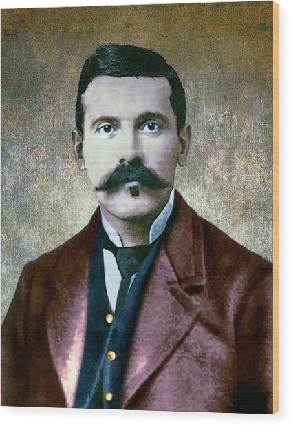 Doc Holliday Painterly Wood Print