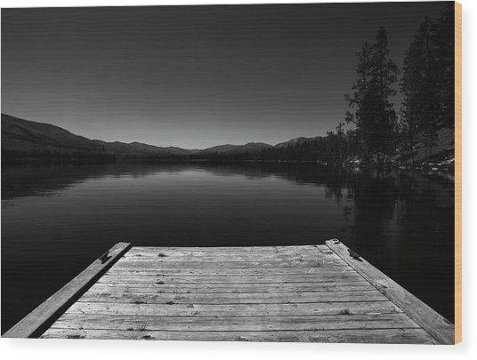 Dock At Dusk Wood Print