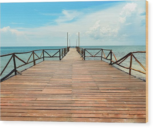 Dock To Infinity Wood Print