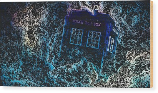 Doctor Who Tardis 3 Wood Print