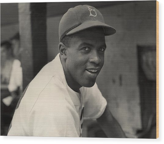 Dodgers Infielder Wood Print by Hulton Archive