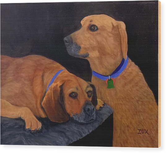 Dog Love Wood Print