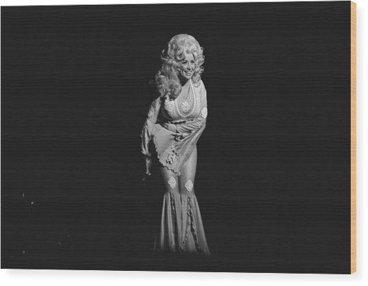 Dolly Parton Performs Live Wood Print