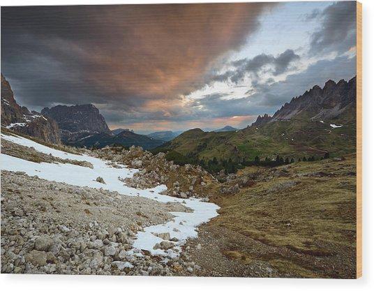 Dolomites, Alps Wood Print