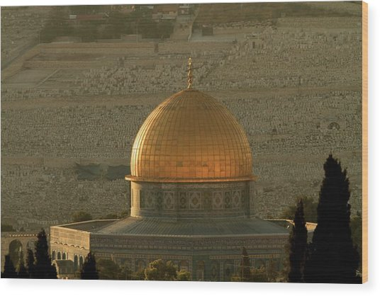 Dome Of The Rock Mosque In Jerusalem Wood Print by Picturejohn