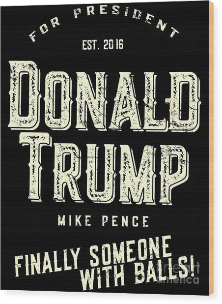 Donald Trump Mike Pence 2016 Vintage Wood Print